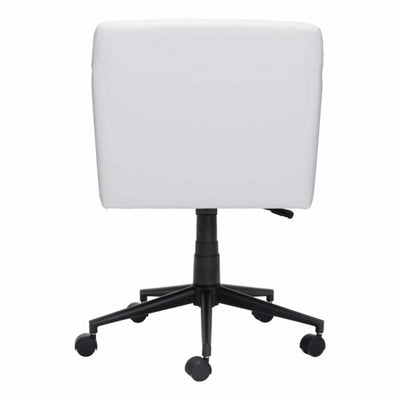 Stylish White Leatherette Office Chair