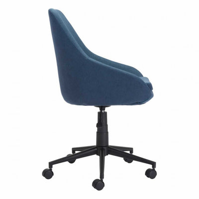 Calming Blue Fabric Office Chair