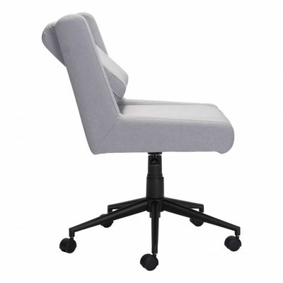Unique Light Gray Cushioned Office Chair