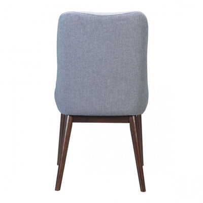 Grey Linen & Wood Guest or Conference Chair (Set of 2)