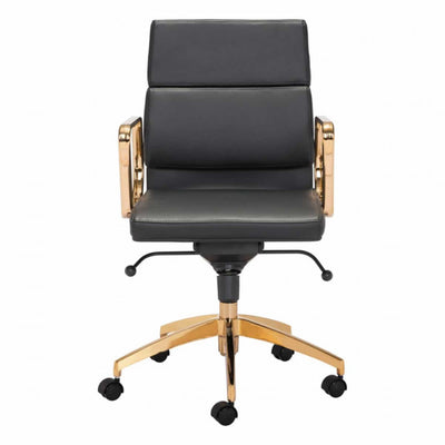 Gorgeous Gold and Black Leatherette Office Chair