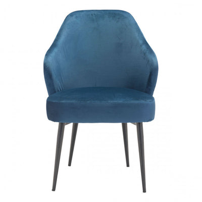 Luxurious Blue Velvet Guest or Conference Chair