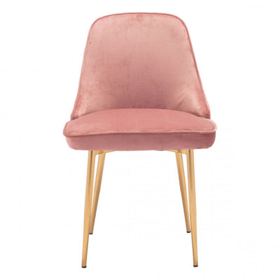 Chic Pink Velvet Guest or Conference Chair