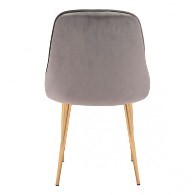 Chic Light Gray Velvet Guest or Conference Chair