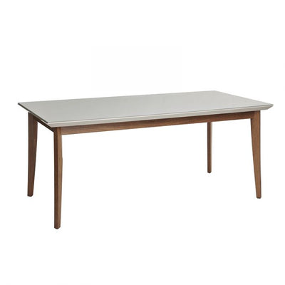 "71"" Well-Crafted Modern Office Desk w/ Off-White Glossy Top"