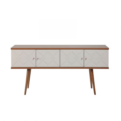 "63"" Well-Crafted Gorgeous Office Desk w/ Off-White Glossy Top"