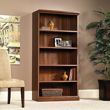 "72"" 5 Shelf Bookcase in Planked Cherry Finish"