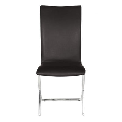 Modern Espresso Leatherette Conference/Guest Chair with Chrome (Set of 2)