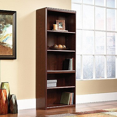 "72"" Tall 5 Shelf Bookcase in Classic Cherry Finish"