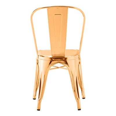 Modern Shining Gold Guest or Conference Chair (Set of 2)