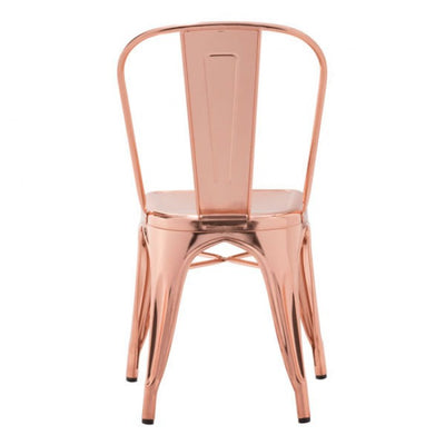 Modern Shining Rose Gold Guest or Conference Chair (Set of 2)