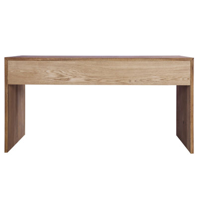 "Eye-Catching 59"" Oak & Poplar Executive Desk"