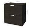 Modern Locking Lateral File in Deep Gray & Black Finish