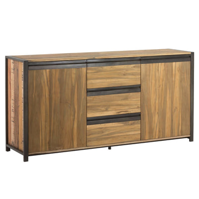 Bold Storage Credenza w/ Multi-Wood Design