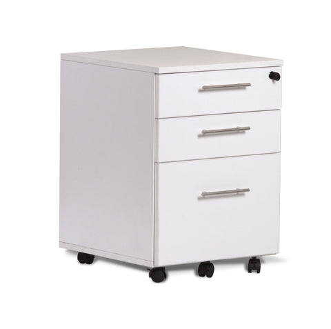 Premium Mobile File Cabinet on Casters in White, Espresso, or Walnut