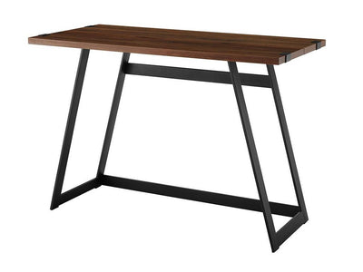 "42"" Angular Dark Walnut & Metal Office Desk"