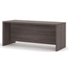 "71"" Modern Executive Desk with Privacy Panel in Bark Grray"