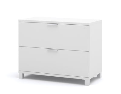Modern White U-shaped Office Desk with Hutch