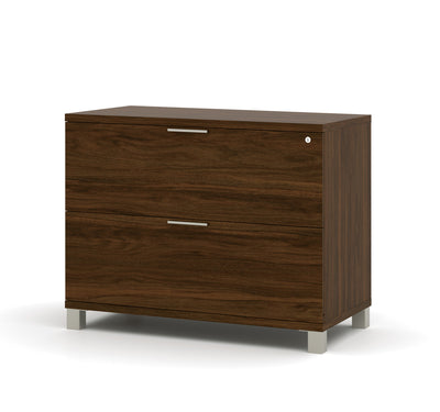 Modern U-shaped Office Desk with Hutch in Oak Barrel