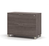 "Premium Modern 36"" Lateral File in Bark Gray (Ships Fully Assembled)"