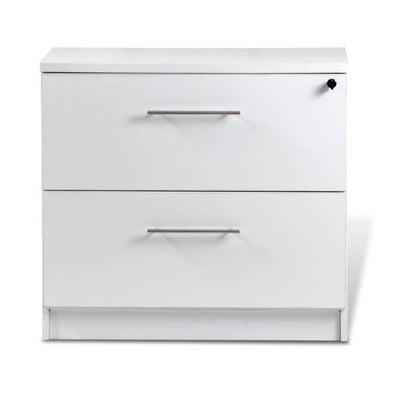 premium white crescent desk with two file drawers. Black Bedroom Furniture Sets. Home Design Ideas