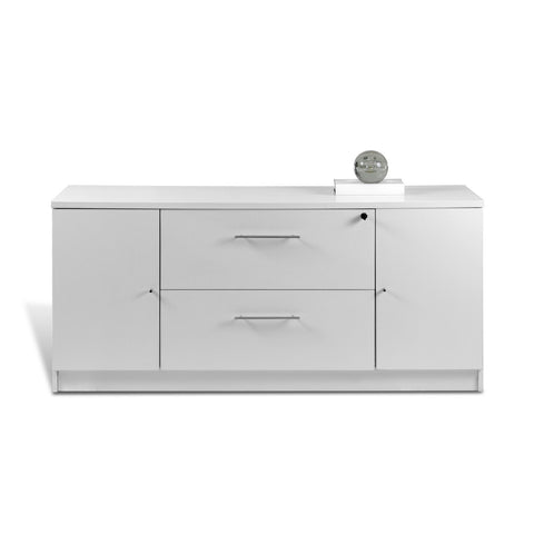 "63"" Modern Credenza in White, Walnut, or Espresso"