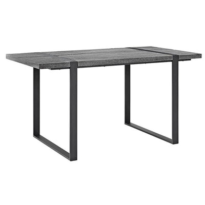 "60"" Charcoal Office Desk with Black Metal Legs"