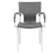 Gray Leather Conference or Guest Chairs with Arms (Set of 2)