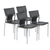 Black Leather Armless Conference or Guest Chairs (Set of 4)