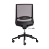 Mesh Gray & Black Rolling Armless Office Chair