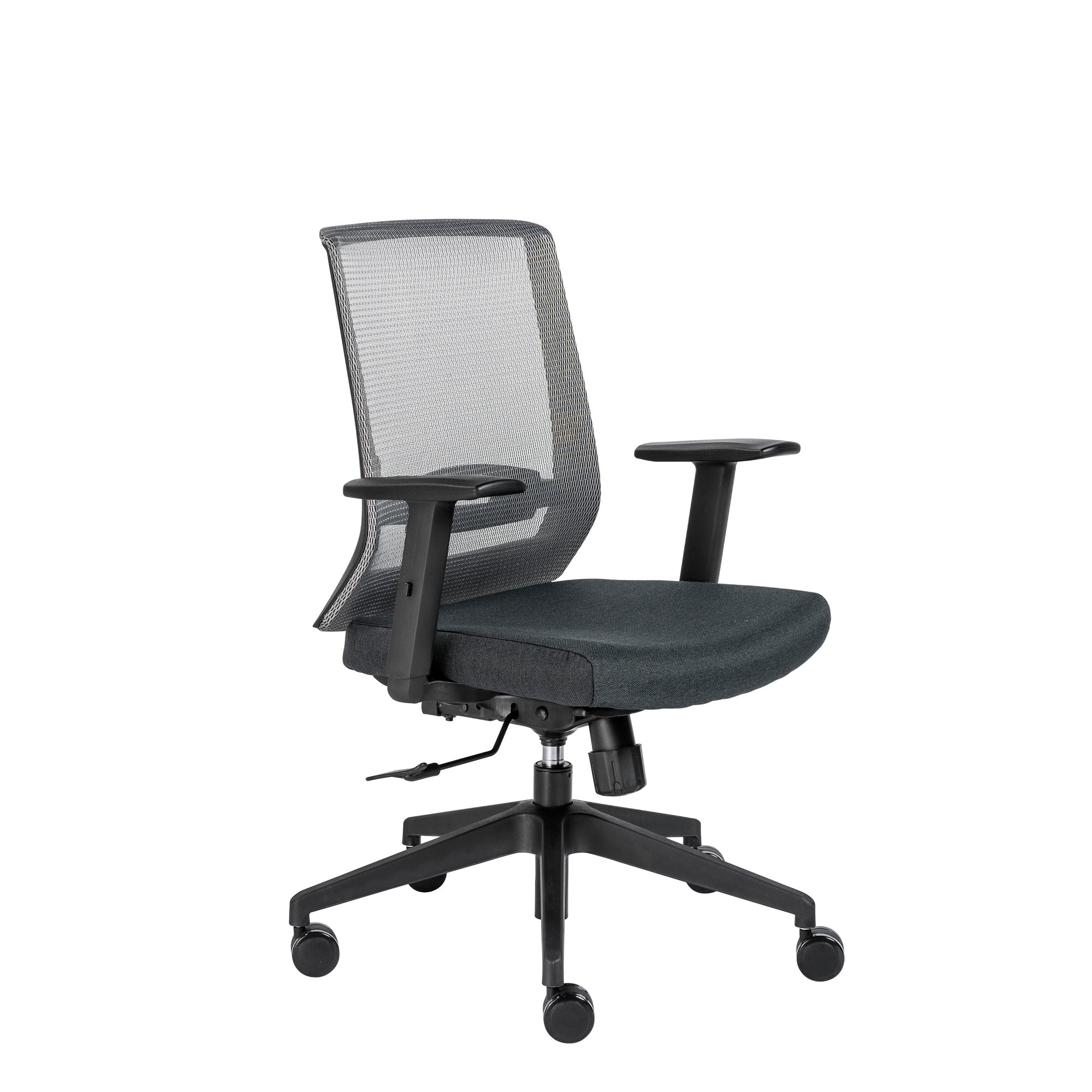 Phenomenal Mesh Gray Black Rolling Office Chair W Adjustable Arms Caraccident5 Cool Chair Designs And Ideas Caraccident5Info