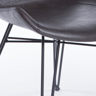 Modern Black and Dark Gray Guest or Conference Chair (Set of 2)