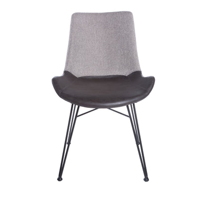 Modern Black and Light Gray Guest or Conference Chair (Set of 2)