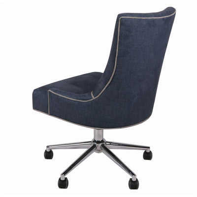 Denim Slate Fabric Rolling Office or Conference Chair
