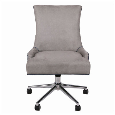 Soft Taupe Fabric Rolling Office or Conference Chair