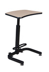 "Compact 26"" Sit-Stand Desk with Height Adjustment in Beige"