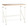 Standing Height Adjustable Desk in Beech Wood with Footrest