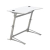 Adjustable White Standing Desk with Contoured Top