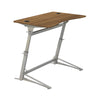 Adjustable Walnut Standing Desk with Contoured Top