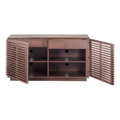 Scandinavian-Style Fir Wood Storage Credenza
