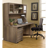 "63"" Modern Walnut Desk with Hutch & Mobile Pedestal"