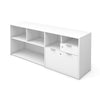"Modern White 71"" Storage Credenza with Drawers"