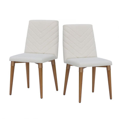 Beige Mid-Century Classic Textured Guest or Conference Chair (Set of 2)