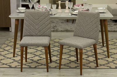 Grey Mid-Century Classic Textured Guest or Conference Chair (Set of 2)