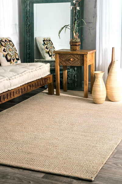 Hand Woven Multi-Toned Beige Office Rug (Multiple Sizes Available)