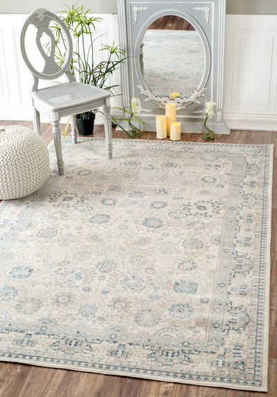 Understated Floral Office Rug (Multiple Sizes)