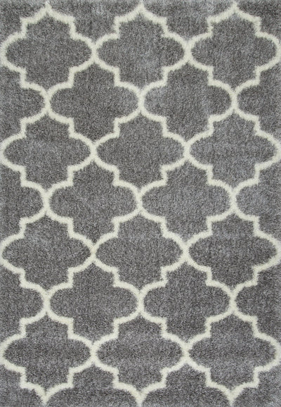 Classic Rectangular Grey Shag Rug (Multiple Sizes Available)