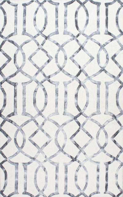Hand-Tufted Wool Office Rug w/ Geometric Design (Multiple Sizes)