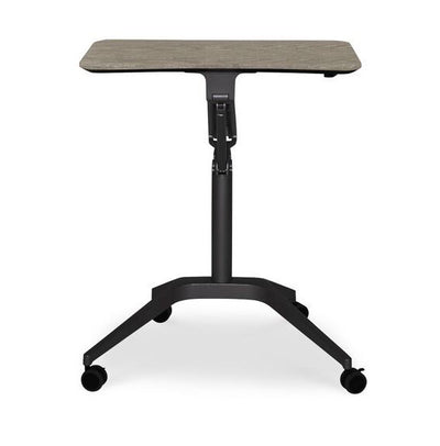 Sit or Stand Adjustable Office Desk in Gray