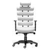 Modern Leather Office Chair with Lumbar Support in White